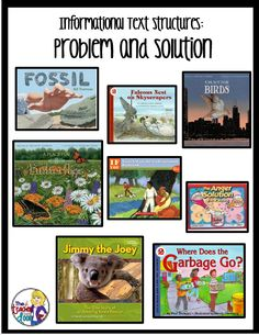 Mentor texts for Informational Text Structures: problem and Solution and lots of ideas to help you teach informational text structures in your classroom.