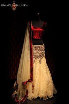Elegant & Hot Lehenga!  Shyamal & Bhumika. Indian wedding lehenga