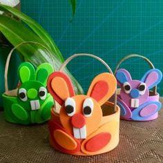 DIY - un tuto pour réaliser des paniers en forme de lapins de pâques Spring Art, Yoshi, Origami, Crafts For Kids, Activities, Recherche Google, Avril, Branches, Jade