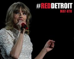 Taylor brought the Red Tour to Detroit for the first concert in a stadium this year!