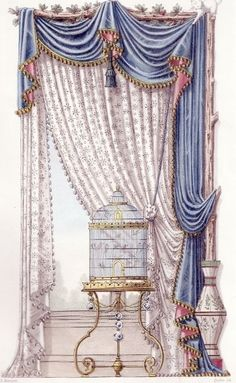 "zhuanghongru: "" Antique Curtain Design Manuscript """