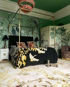 Bedroom Green, Green Rooms, Bird Bedroom, White Bedroom, Bedroom Inspo, Bedroom Decor, Bedroom Rugs, Design Bedroom, Target Bedroom