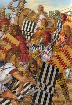Greco-Persian Wars Persian Sparabara Spearmen versus Greek Hoplites