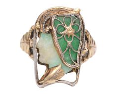 Trinket Treasure Box| Serafini Amelia| Art Nouveau Ring c1900