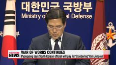 "North Korea threatens South Korean official for ""slanderous"" remarks"