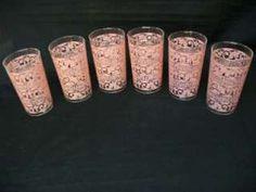 pink juice glasses