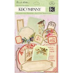 K and Company - Flora and Fauna Collection - Die Cut Stickers - Apothecary Label at Scrapbook.com $2.99