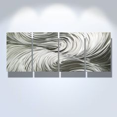 Contemporary Metal Wall Art, Modern Home Décor, Abstract Wall Sculpture- Echo Item# 1468  - Click image twice for more info - See a larger selection of wall paintings at http://www.zbestsellers.com/level.php?node=106&title=oil-paintings - home, home decor, home ideas, wall decor, oil paintings, gift ideas