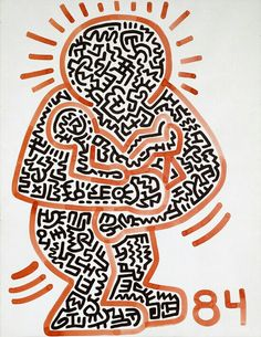 I really love Keith Haring's work and it is predominantly drawn from memory. This piece certainly is. Jm Basquiat, Keith Allen, Keith Haring Art, New York Art, Art Walk, Middle School Art, Arte Pop, Art Moderne, Graffiti Art