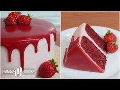 Red Velvet Cake Recipe with Cream Cheese Frosting ( Drip Cake ) - YouTube