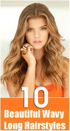 Top 10 Beautiful Wavy Long Hairstyles