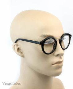 5b5aea661de Retro Vintage Oval Style Clear Lens Eye Glasses Large Cool Nerd Smart Round  l. eBay. Lenses EyeFunky FashionVintage FashionSunglasses ...