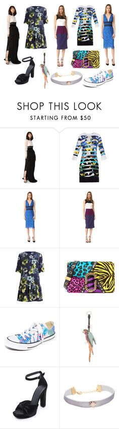 """polyvore World family"" by donna-wang1 ❤ liked on Polyvore featuring Antonio Berardi, Mary Katrantzou, Diane Von Furstenberg, Black Halo, Erdem, Marc Jacobs, Converse, Valentino, Joie and Shashi"