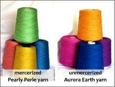 mercerized Pearly Perle and Aurora Earth yarns