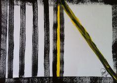 """A janela abrindo"" acrílica sobre papel 0,42 x 0,30 2013 M. Sigrini Miranda"