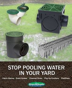 Keeping pooling water away from your home is crucial in preventing foundation damage and flooding in and around your home and driveway. GreyDock carries the proper landscaping and yard drainage products to keep water at bay and your home staying safe and dry. From catch basins and channel drain to pop up emitters and flexible drainage find the water management solutions at an affordable price. #HomeBeginsHere