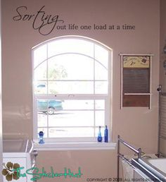 Laundry Room quote idea