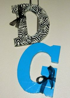 Duct tape letters. So easy!