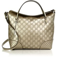 Bree Metallic Guccissima Leather Top Handle Bag