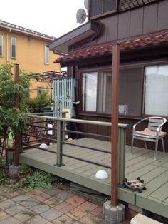 タープを張る柱を建てる : 行き当たりばったりガーデン Deck, Exterior, Outdoor Decor, Gardening, Home Decor, Front Porch, Lawn And Garden, Decks, Interior Design