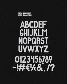 """Retro"" free font family. on Behance"