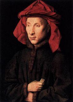 ❤ - JAN VAN EYCK (1395-1441) - Portrait of Giovanni Arnolfini - 1435. Staatliche Museen, Berlin.