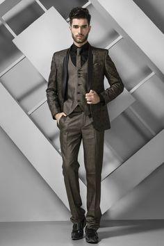 Cream colour Indian designer Men's reception suit online shopping ...