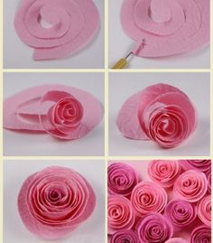 Diy paper rosette wreath with free cut file pinterest paper easy paper flowers rose flowers paper spring decor mightylinksfo