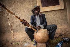 Street musician in Mopti, Mali