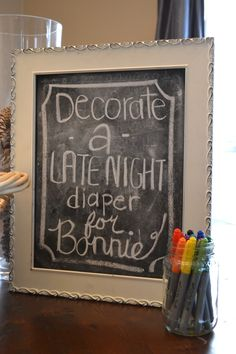 From Our House With Love: A Rustic Country Baby Shower.   can just make designs if something catchy doesnt come to mind