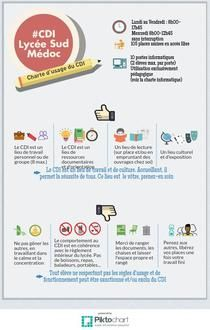 Charte CDI | Piktochart Infographic Editor Henri Bergson, Teaching French, Editor, Lectures, Libraries, Info Graphics, Management, Projects, Teaching French Immersion