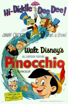 Pinocchio (1940) movie #poster, #tshirt, #mousepad, #movieposters2