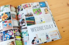 Week in the life photo book from Tracy Larsen Family Yearbook, Family Album, Yearbook Ideas, Digital Project Life, Project 365, Book Projects, Photo Projects, Album Design, Book Design