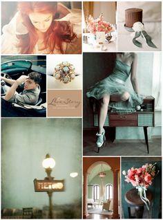 aqua and rust inspired wedding. Parisian, Romantic, and Vintage.