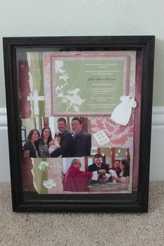 Baptism shadowbox. Totally making one of these for baby girl. Great idea Kim!