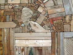 driftwood collage by George Morrison