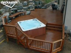 Integrated hot tub - not crazy about all of the decking