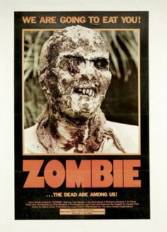 Here we go! Time for some #Halloween #Zombie #Horror #Movie #Poster here at www.thecautioustrain.blogspot.com