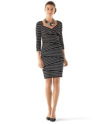 Instantly Slimming 3/4-Sleeve Dress #WHBM #EastwoodPinPals