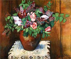 Vase of Flowers / Suzanne Valadon - 1921