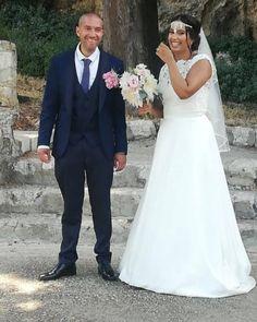 Robe de mariée Mélissa et boléro Bianco Evento choisi chez Mariage en Rose, mariage du 1er août 2020.