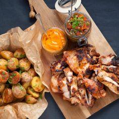 kycklingsteak Aperol Spritz Recept, Bbq Chicken, Chicken Wings, Tapas, Curry, Food And Drink, Pizza, Recipes, Mamma
