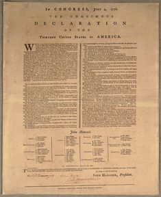 The first issue of the Declaration of Independence | Image 1, In Congress, July 4, 1776. The unanimous declara...