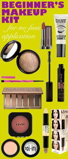 Makeup Kit This is the complete guide to beginner's makeup! Every makeup product you need all condensed into a beginner's makeup kit!This is the complete guide to beginner's makeup! Every makeup product you need all condensed into a beginner's makeup kit! Eyeshadow Primer, Makeup Primer, Contour Makeup, Eyeshadow Makeup, Mac Makeup, Eye Makeup Tips, Makeup Blog, Makeup Tools, Beauty Makeup