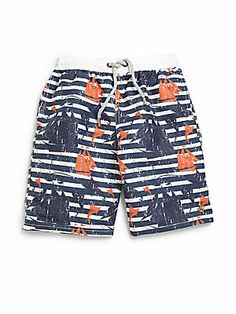 Retromarine Boy's Sailings & Marlins Swim Trunks