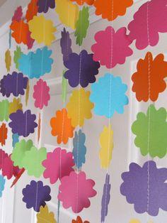 Flower Garland Rainbow Beach Party Garden Luau Decorations Shower 11 00 Via Etsy