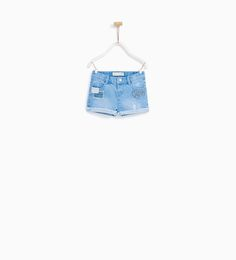 DENIM BERMUDA SHORTS WITH PATCHES-NEW IN-BABY GIRL | 3 months - 4 years-KIDS | ZARA United States