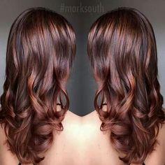 Beautiful cinnamon brown hair color