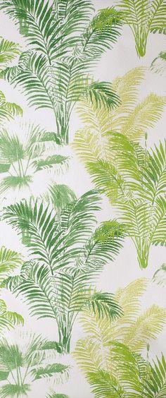 Papier peint vinyle lourd Palmier #Vert - castorama