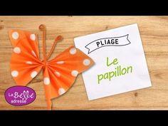Pliage de serviette en forme de papillon - YouTube